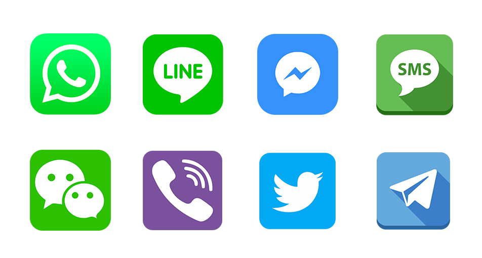 The trend of advertising via messaging apps on social networks